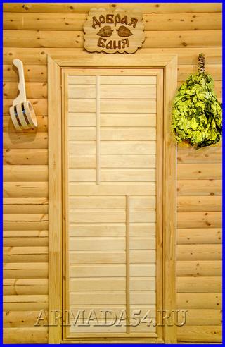 Сделать двери для бани из липы